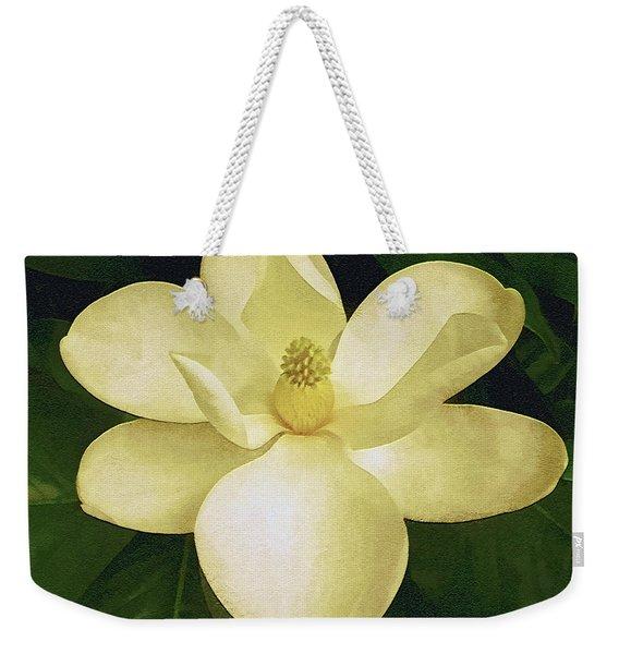Vintage Magnolia Weekender Tote Bag