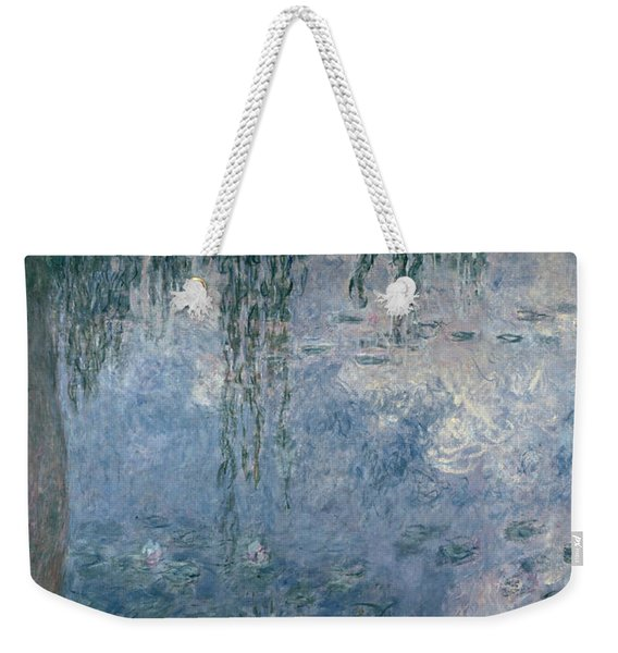 Waterlilies Morning With Weeping Willows Weekender Tote Bag