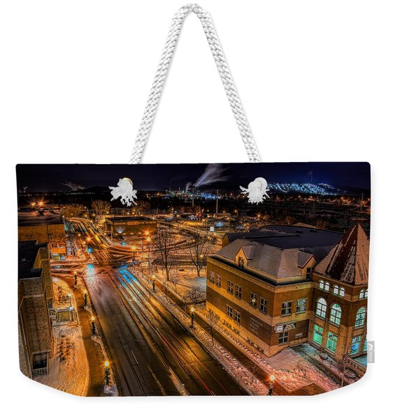 Wausau After Dark Weekender Tote Bag