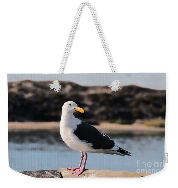 Western Gull At Moss Landing Inlet Weekender Tote Bag