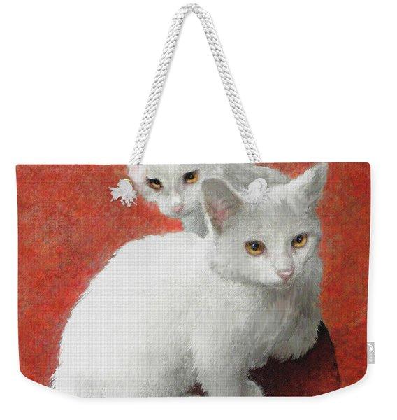White Kittens Weekender Tote Bag
