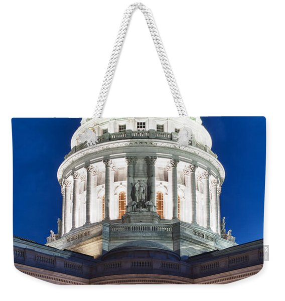 Wisconsin State Capitol Building At Night Weekender Tote Bag