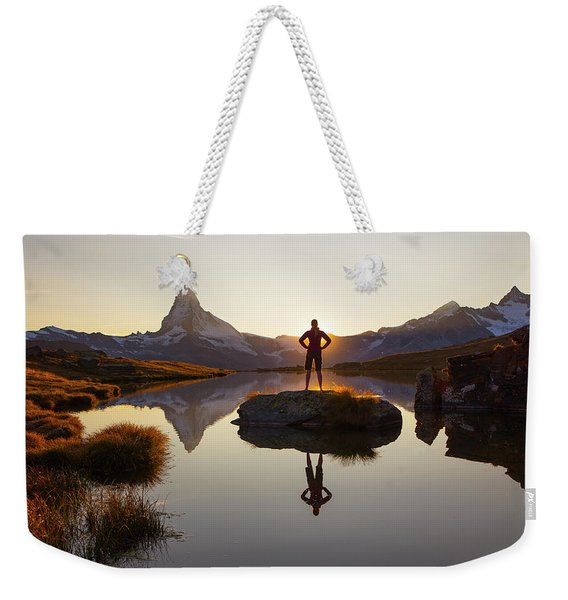 With The Matterhorn In The Background Weekender Tote Bag