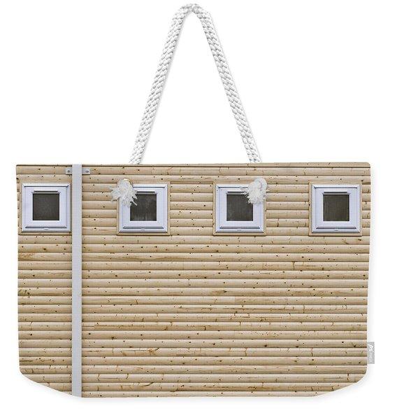 Wooden Wall Weekender Tote Bag
