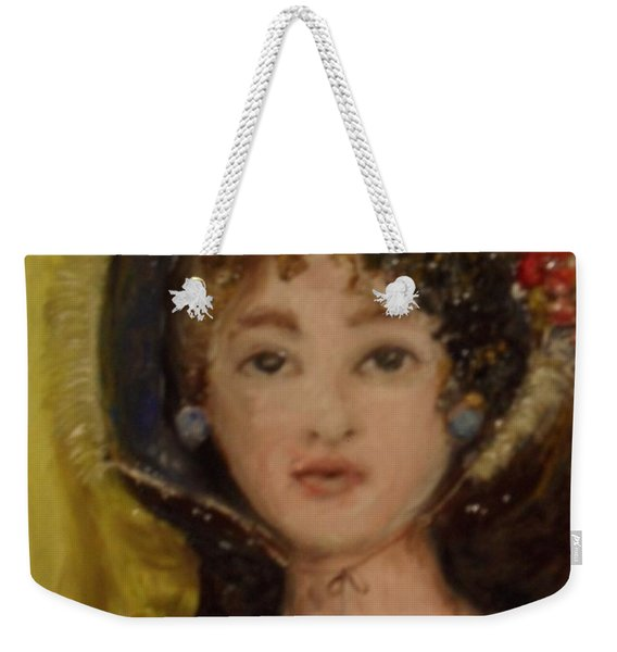 Weekender Tote Bag featuring the painting Yesterday by Laurie Lundquist