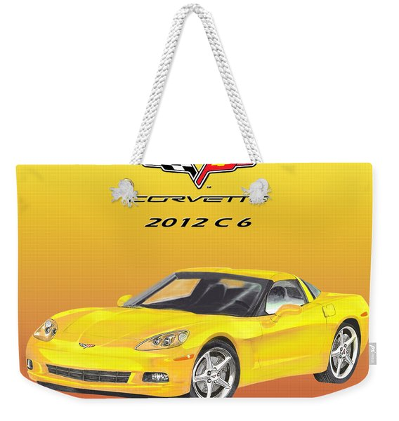 2012 C 6 Corvette Weekender Tote Bag
