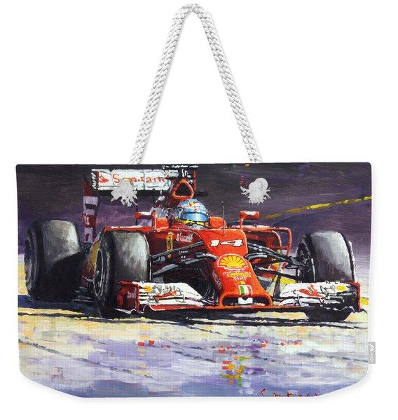 2014 Ferrari F14t Fernando Alonso  Weekender Tote Bag