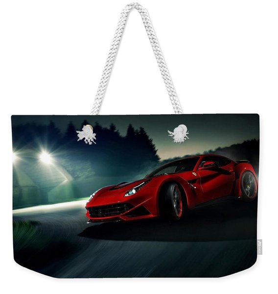 2014 Novitec Rosso Ferrari F12 Berlinetta N Largo Weekender Tote Bag