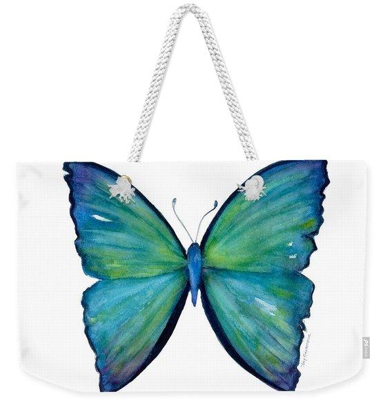 21 Blue Aega Butterfly Weekender Tote Bag
