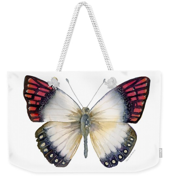 27 Magenta Tip Butterfly Weekender Tote Bag
