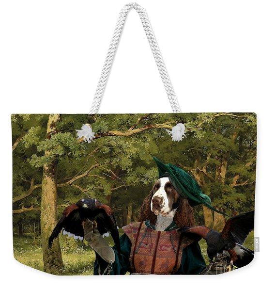 English Springer Spaniel Art Canvas Print Weekender Tote Bag