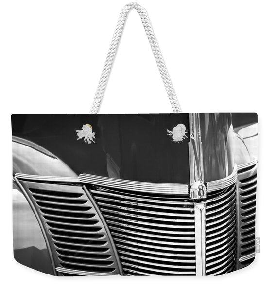 1940 Ford Deluxe Coupe Grille Weekender Tote Bag