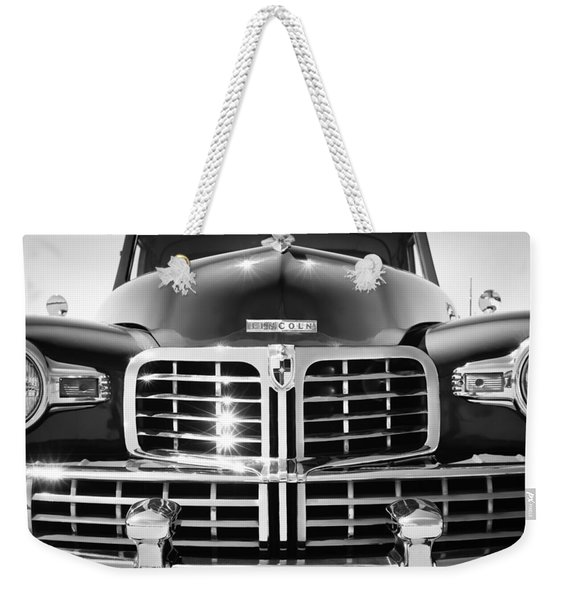 1948 Lincoln Continental Grille Emblem Weekender Tote Bag