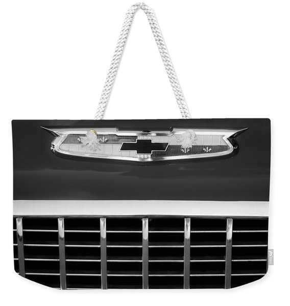 1955 Chevrolet Belair Nomad Emblem Weekender Tote Bag