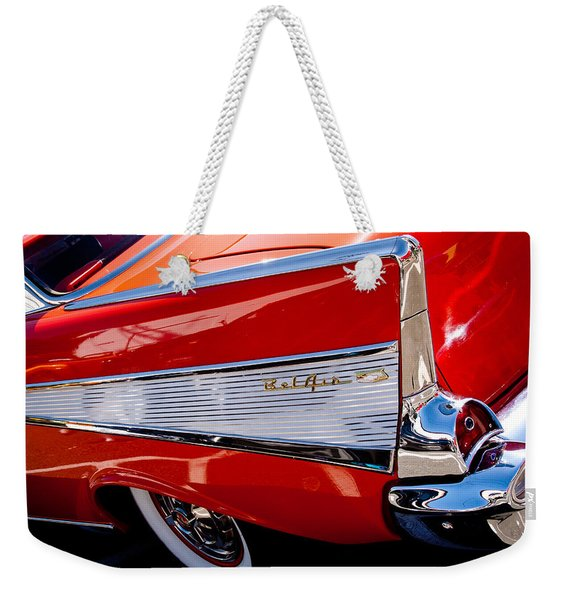 1957 Chevy Bel Air Custom Hot Rod Weekender Tote Bag