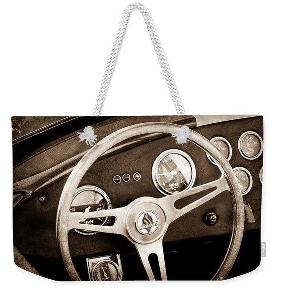 1965 Ac Cobra Steering Wheel Emblem Weekender Tote Bag