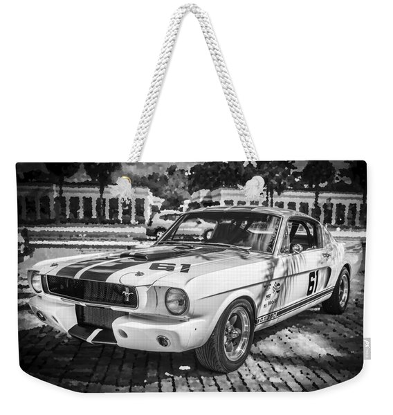 1965 Ford Shelby Mustang Bw Weekender Tote Bag