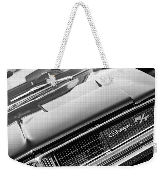 1969 Dodge Charger R-t Emblem Weekender Tote Bag