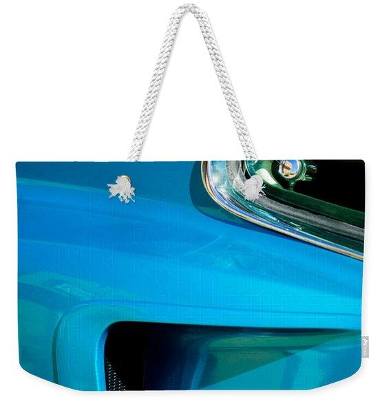 1969 Ford Mustang Mach 1 Side Emblem Weekender Tote Bag