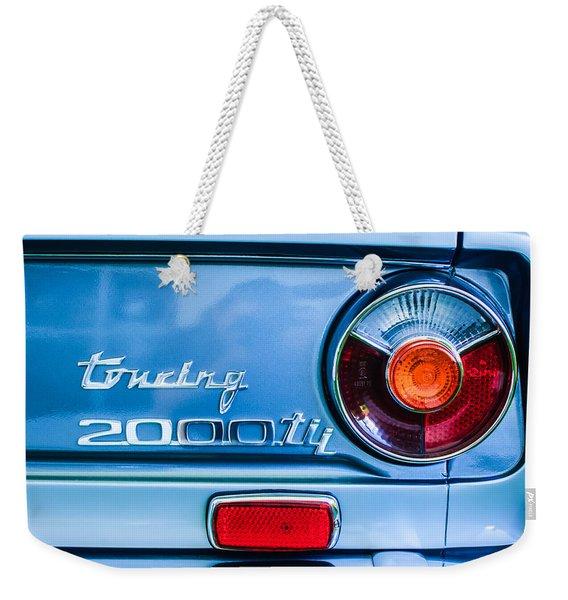 1972 Bmw 2000 Tii Touring Taillight Emblem -0182c Weekender Tote Bag