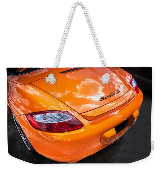 2008 Porsche Limited Edition Orange Boxster  Weekender Tote Bag