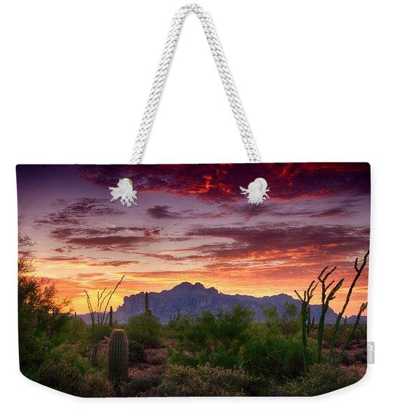 A Superstition Sunrise  Weekender Tote Bag