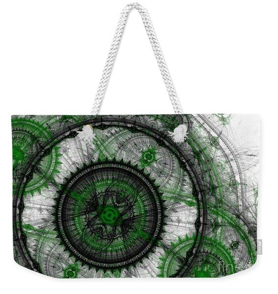 Abstract Mechanical Fractal Weekender Tote Bag