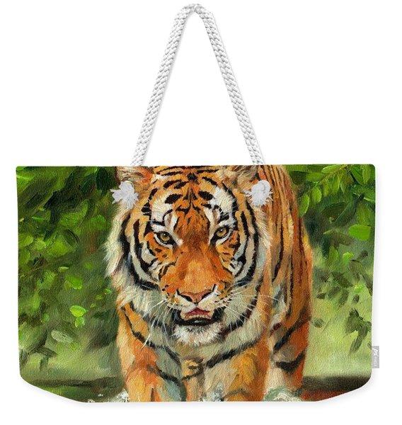 Amur Tiger Painting Weekender Tote Bag
