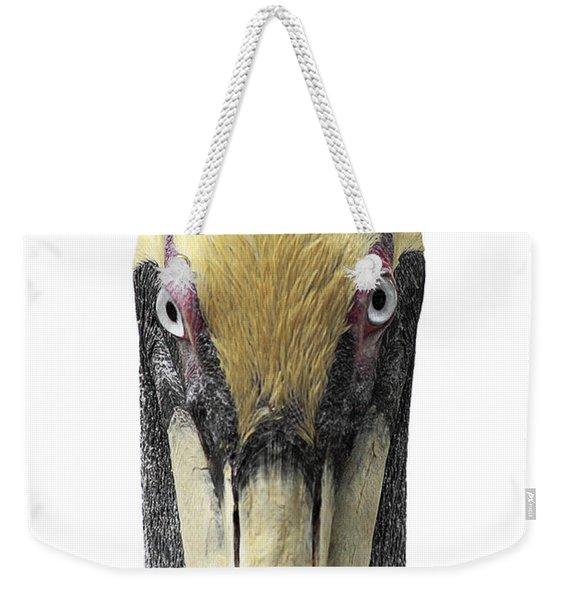 Brown Pelican-2 Weekender Tote Bag