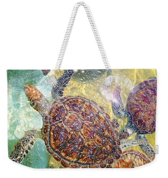 Cayman Turtles Weekender Tote Bag