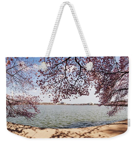 Cherry Blossom Trees In The Tidal Basin Weekender Tote Bag