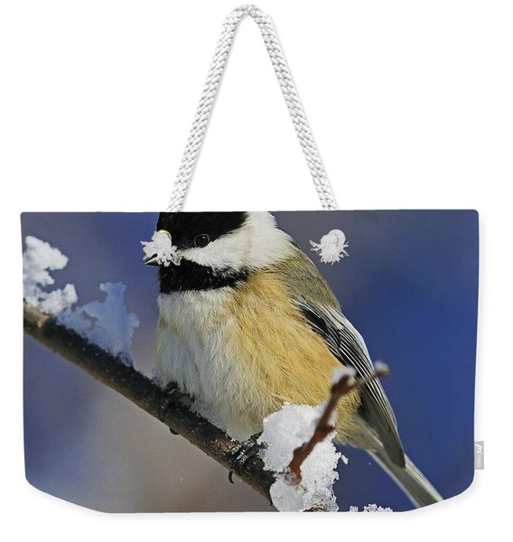 Winter Chickadee... Weekender Tote Bag