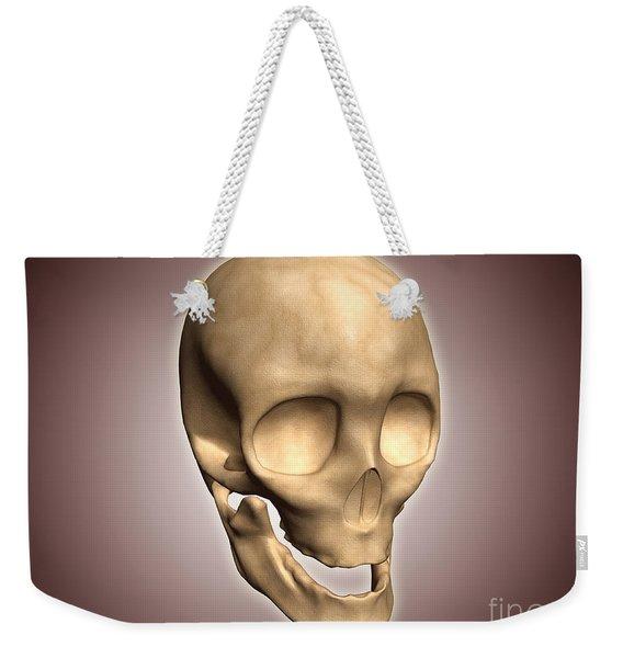 Conceptual Image Of Human Skull Weekender Tote Bag
