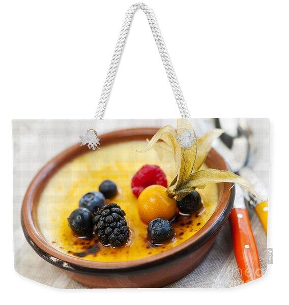 Creme Brulee Dessert Weekender Tote Bag