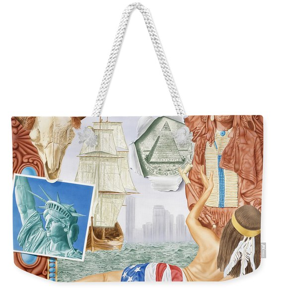 Destruction Of Native America Weekender Tote Bag