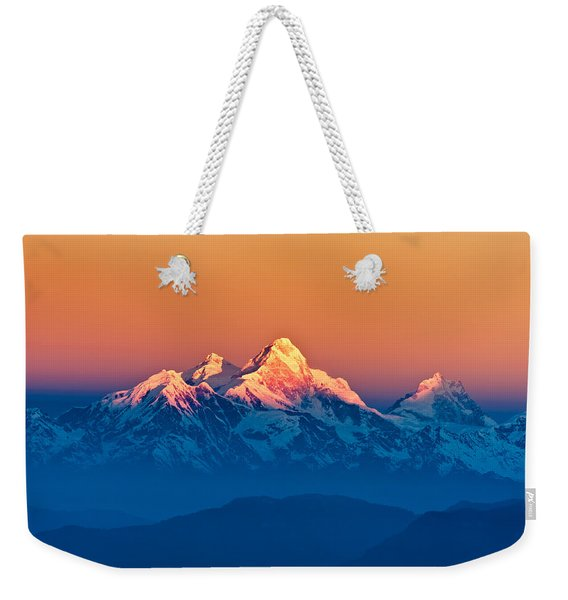 Himalayan Mountains View From Mt. Shivapuri Weekender Tote Bag