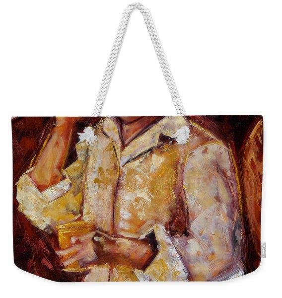 Weekender Tote Bag featuring the painting Jibaro De La Costa by Oscar Ortiz