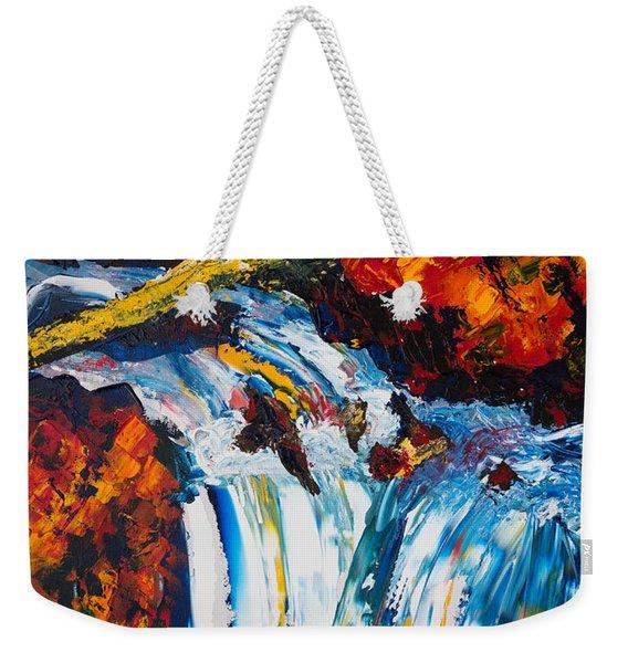 Log And Waterfall Weekender Tote Bag