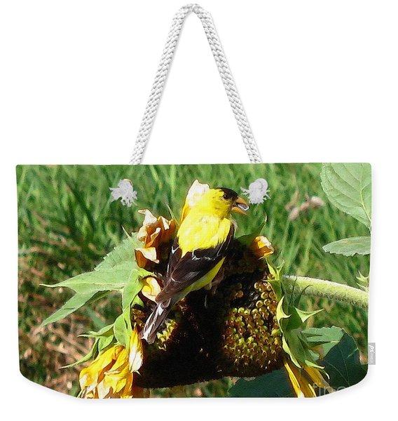 Male American Goldfinch Weekender Tote Bag