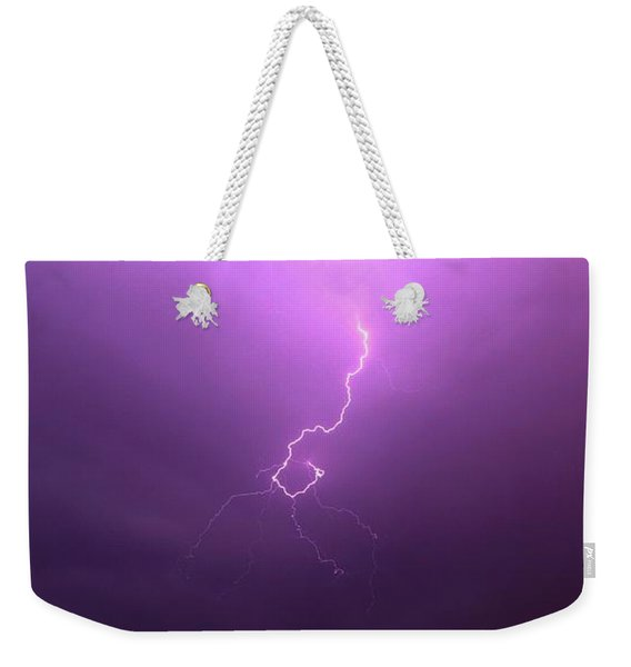 Weekender Tote Bag featuring the photograph Our 1st Severe Thunderstorms In South Central Nebraska by NebraskaSC