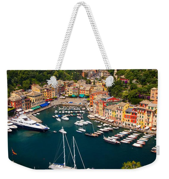 Weekender Tote Bag featuring the photograph Portofino by Brian Jannsen
