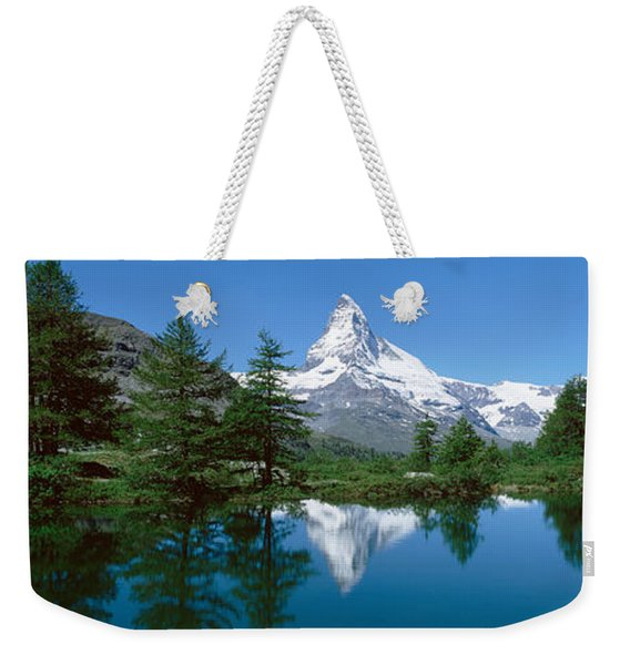 Reflection Of A Mountain In A Lake Weekender Tote Bag