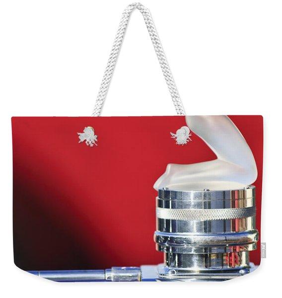 Rene Lalique - Chrysis - 1937 Rolls-royce Phantom IIi Aero Coupe Hood Ornament Weekender Tote Bag