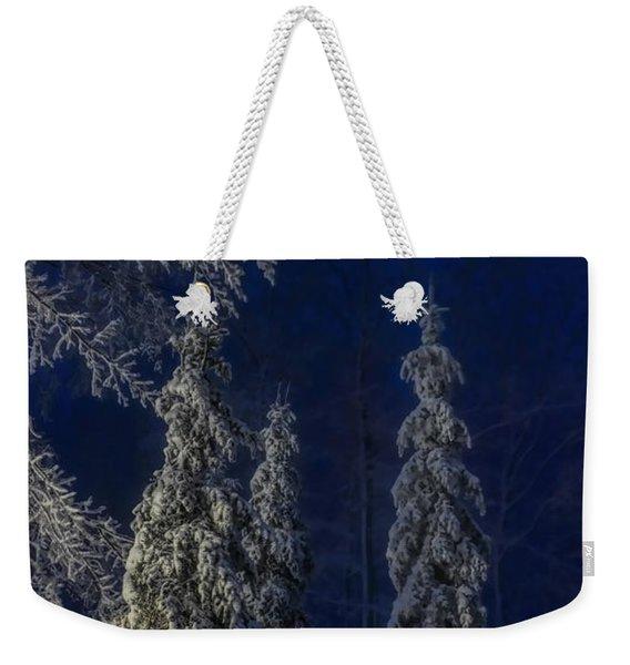Rib Mountain State Park Snow Weekender Tote Bag