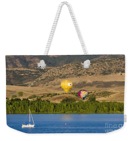 Rocky Mountain Balloon Festival Weekender Tote Bag