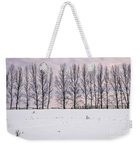 Rural Winter Landscape Weekender Tote Bag