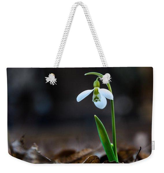 Snowdrop Flower Weekender Tote Bag