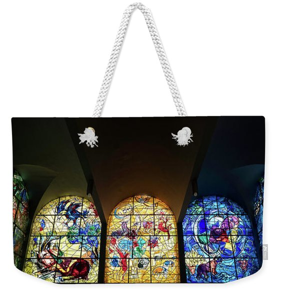 Stained Glass Chagall Windows Weekender Tote Bag