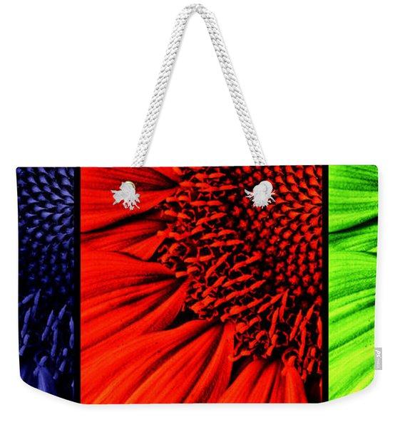 3 Tile Sunflower Colors Weekender Tote Bag