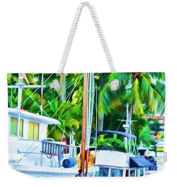 Two Boats Weekender Tote Bag